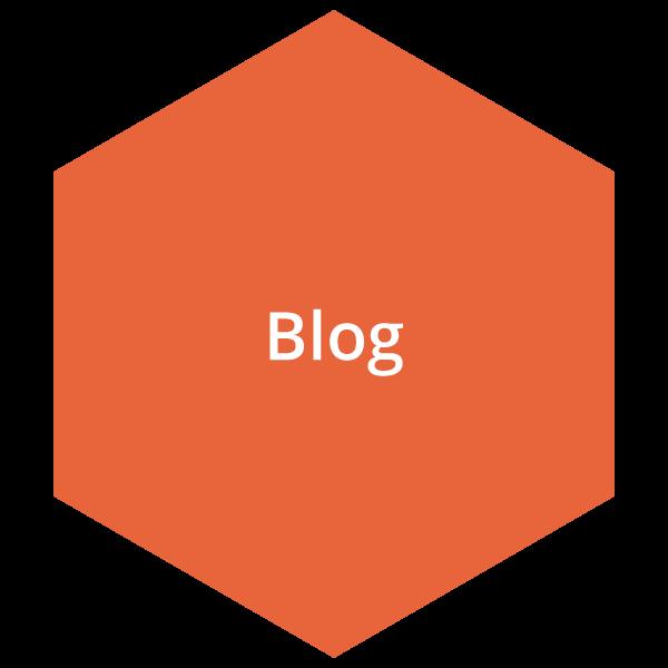 Orange blog button
