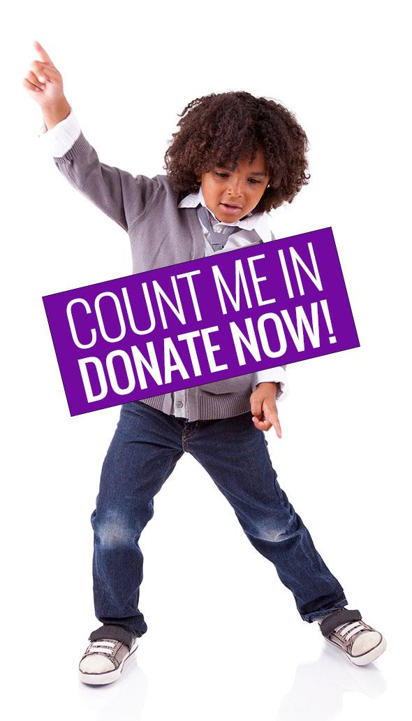 Purple donate button