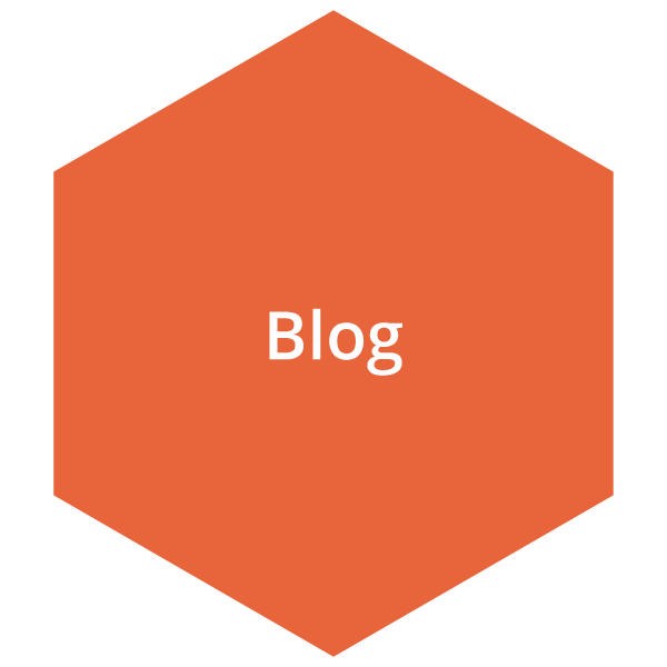 Orange blog button